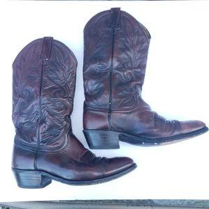 Dan Post Western Boots Dark Burgundy Size 9D